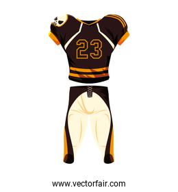 american football player outfit sportsuit