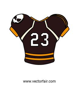 american football jersey, t-shirt sport on white background