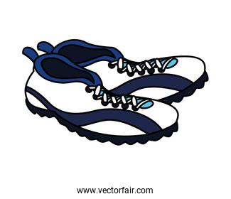 american football shoes on white background