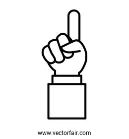 hand in approval symbol on white background