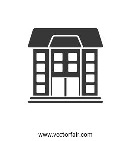 Isolated school building silhouette style icon vector design