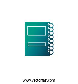 daily planner notebook , gradient style icon