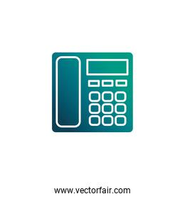 fixed office telephone, gradient style icon