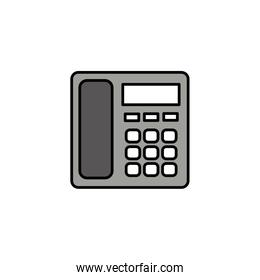 fixed office telephone, line style icon