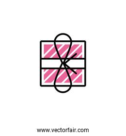 gift box, line style and color
