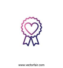 badge with ribbon,gradient style icon