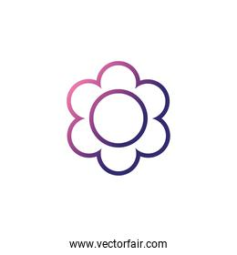 flower with leaf,gradient style icon