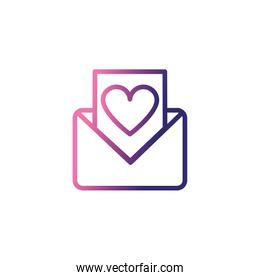 envelope open with message,gradient style icon