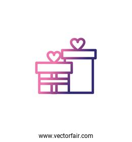gift boxes, gradient style icon