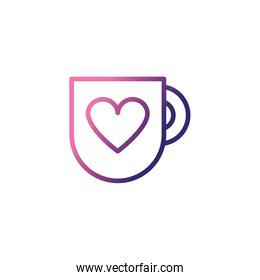 cup of coffee,gradient style icon