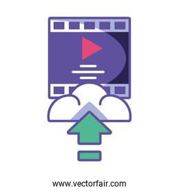 media player download on white background