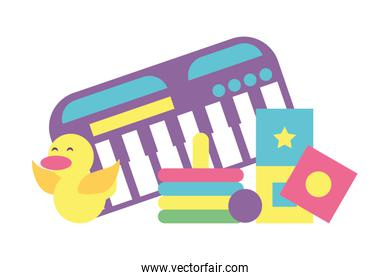 toys for small children, wooden and plastic toys