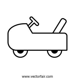 toy car on white background, baby toys