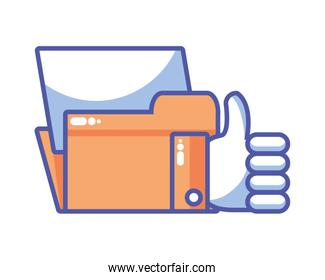 folder with file sheet in white background