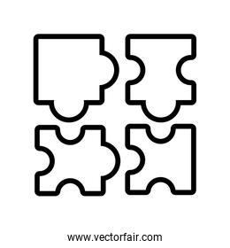 colorful puzzle pieces in white background