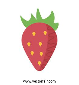 fresh and delicious strawberry on white background
