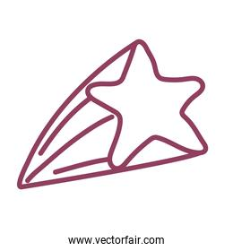 golden star on white background, line style icon