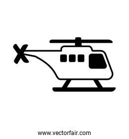 safety helicopter on white background