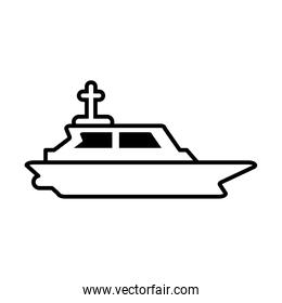 rescue boat on white background