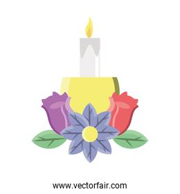 candlestick with flowers