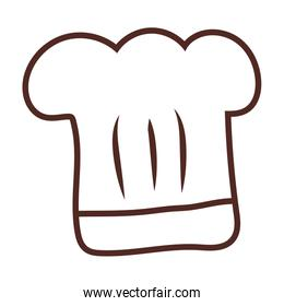 chef hat, line style icon