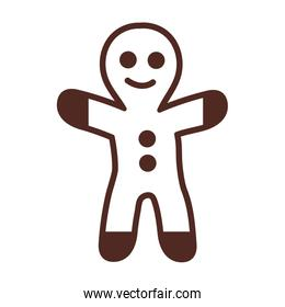 gingerbread man, line style icon