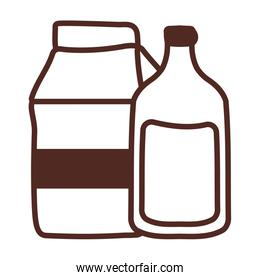 box and bottle milk, line style icon