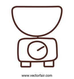 kitchen scale, line style icon
