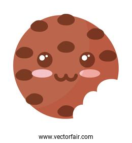 delicious and fresh cookie on white background