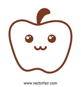 fresh and delicious apple , line style icon
