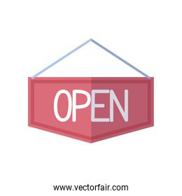 open sign icon, flat style