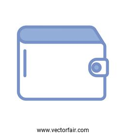 wallet icon, blue outline style