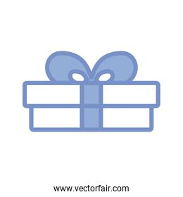 gift box icon, blue outline style
