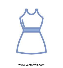 women dress icon, blue outline style