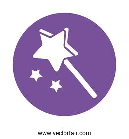 magic wand , silhouette style icon