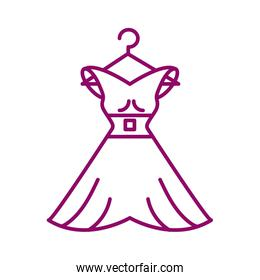 dress of woman, line style icon
