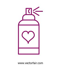 bottle spray, line style icon