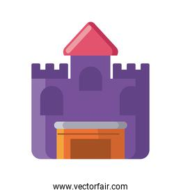 medieval castle on white background