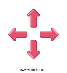 arrows in four directions on white background