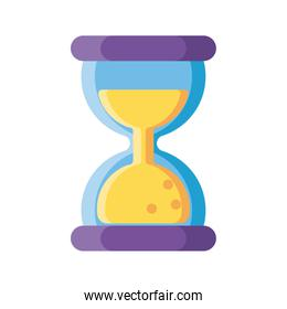 cute hourglass on white background