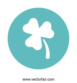 three leaf clover , block and flat style icon