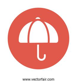 classic umbrella , block and flat style icon
