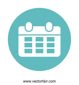 calendar reminder , block and flat style icon
