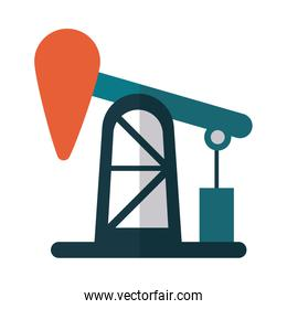 oil refinery in white background