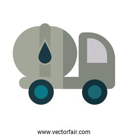 petrol truck in white background
