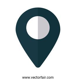 gps locator on white background