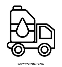petrol truck , line style icon