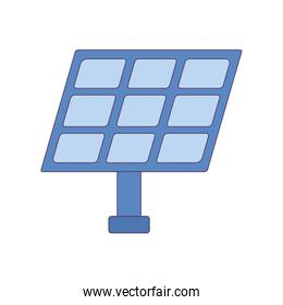 Isolated solar panel vector design