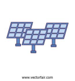 Isolated solar panels vector design