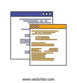 Isolated websites pages vector design